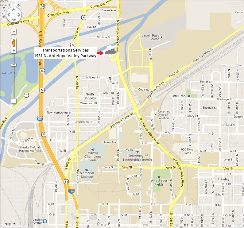 Map university fleet management nebraska for Department of motor vehicles lincoln nebraska
